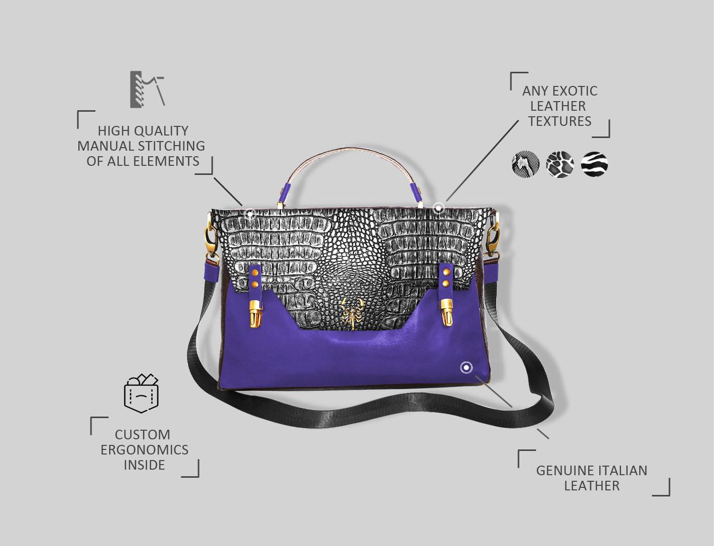 эксклюзивный дизайн сумок модельера Stas Qlare Швечков
