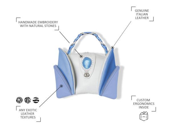 модная женская сумка из кожи Fiores от stas qlare индивидуальный пошив